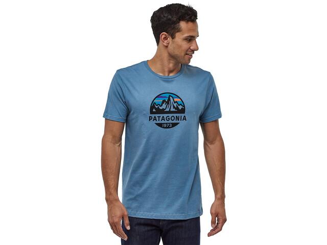 Patagonia Fitz Roy Scope Organic T-shirt Herr woolly blue